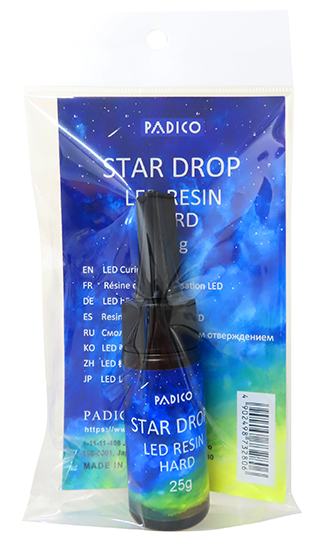 "LED Curing Resin ""Star Drop"" Hard 25g EN label"