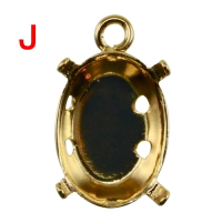 Setting for Jewel Mold Mini J Oval 9 × 12mm