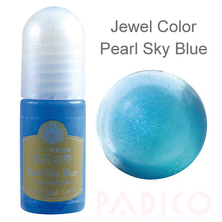 Jewel Color Pearl Sky Blue - Click Image to Close