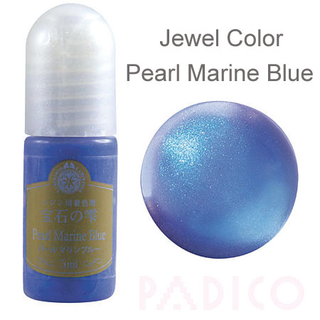 Jewel Color Pearl Marine Blue