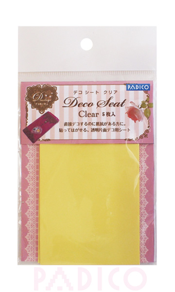 Deco Sheet Clear 5 pieces set