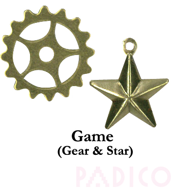 Brass Charm: Gear & Star