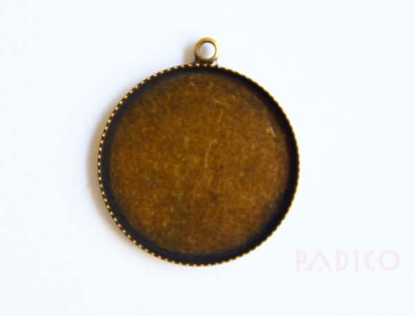 Brass Setting Round Antique Gold
