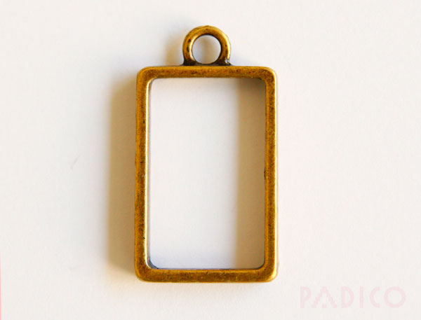 Rectangle Pendant Blank Setting Frame B