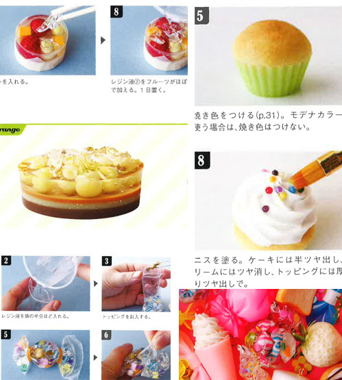 decoden and more PADICO book polymer craft supplies for jewellery Sweets Deco Lesson by Candy Color Ticket