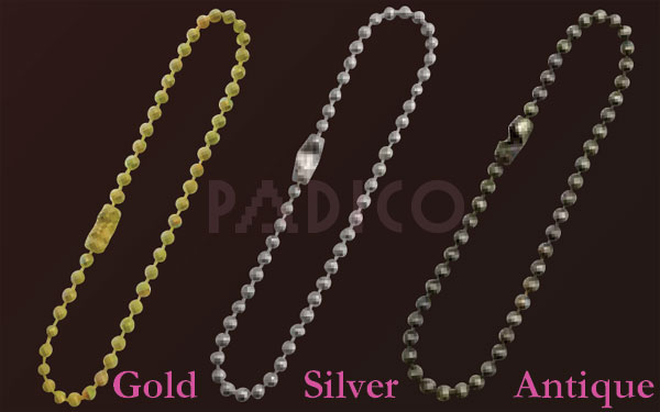 Ball Chain Gold (5 pcs)